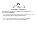 Hatchet - After Chapters 1-3 Narrative Writing Assignment
