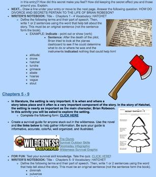 Hatchet: An Online Interactive Novel Study