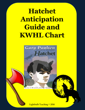 Hatchet Anticipation Guide and KWHL Chart