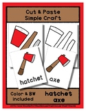 Hatchet & Axe - Cut & Paste Craft - Super Easy Perfect for