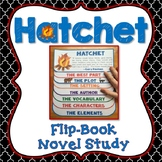 Hatchet Novel Study, Flip Book Project, Vocabulary, Writing Prompts