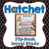 Hatchet Novel Study, Flip Book Project, Vocabulary, Writin