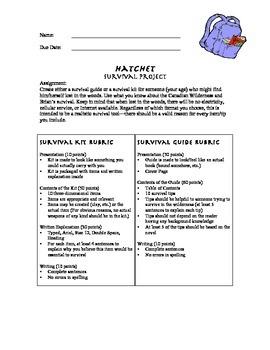 Hatchet: Book Project