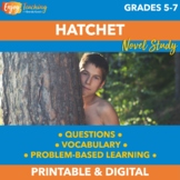 Hatchet Novel Study Bundle with PDF and Paperless Google Drive Options