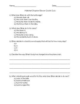 Hatchet Chapter 11 Quick Quiz