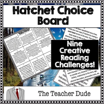Hatchet Choice Board