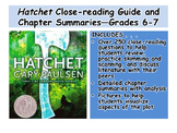 Hatchet Close-reading Guide and Chapter Summaries—Grades 6-7