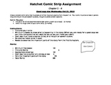 Hatchet Comic strip assignment