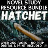 Hatchet Complete Teaching Guide Novel Study, Worksheets, Activities, Tests, Unit