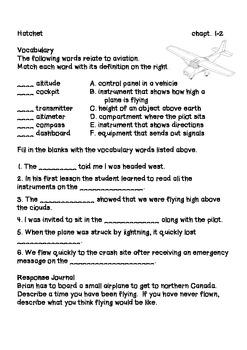 Hatchet Comprehension Packet and Key