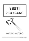 Hatchet Comprehension Packet and Key