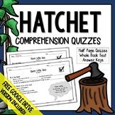 Hatchet Comprehension Questions (Hatchet Distance Learning