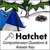 Hatchet - Comprehension Questions & Answer Key