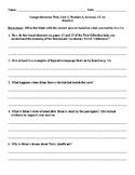 Hatchet Comprehension Test ReadyGen Unit 1 Module A Grade 5