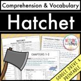 Hatchet: Comprehension and Vocabulary by chapter