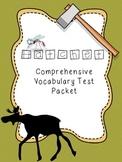 Hatchet Comprehensive Vocabulary Test Packet