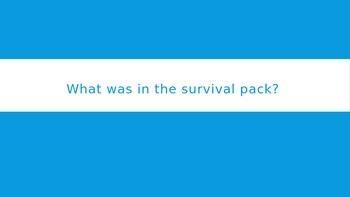 Hatchet: Contents of survival pack