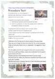 Hatchet - Creating a Procedure Text - Making Fire