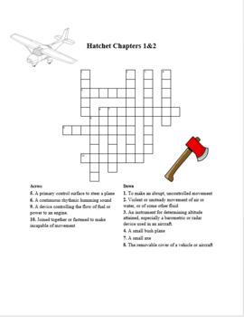 Hatchet Crossword Puzzles