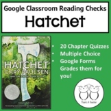 Hatchet Editable Chapter Reading Quizzes Using Google Forms