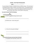 Hatchet Final Project Planning Sheet