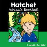 Hatchet [Gary Paulsen] Printable Book Unit