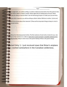 Hatchet Journal Activity