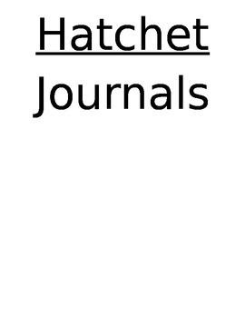 Hatchet: Journal Response Packet