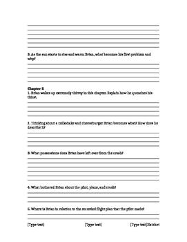 Hatchet Literature Circle Questions