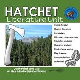 Hatchet Literature Unit for Read Aloud