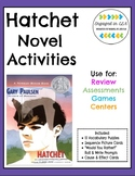 Hatchet Novel Activities - Vocab, Writing, Cause & Effect,