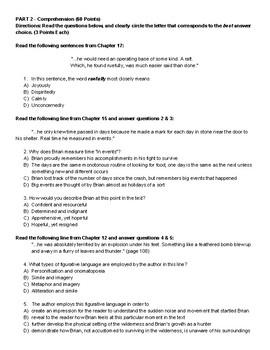 Hatchet Novel Assessment