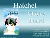 Hatchet Choice Board Novel Project Activities Menu Assessm