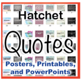 Hatchet Novel Quotes Posters and Powerpoints
