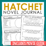 Hatchet Novel Unit Study Activities, Interactive Notebook
