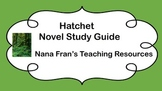 Hatchet Novel Study Guide