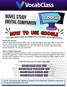 Hatchet Book Novel Study Guide PDF - READING QUIZZES | VOCAB | TESTS | GAMES