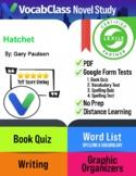 Hatchet Book Novel Study Guide PDF - READING QUIZZES   VOCAB   TESTS   GAMES