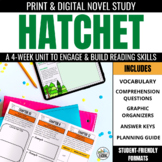 Hatchet Novel Unit Bundle: Print & Digital Novel Study Bundle