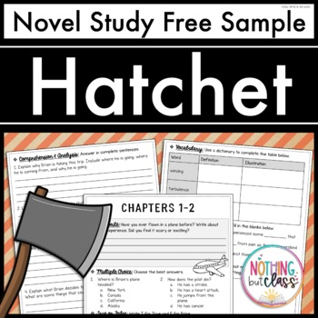 Hatchet Novel Study Unit: FREE Sample