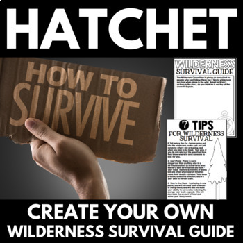 Hatchet Novel Study Unit Literature Guide - Pre-Reading and Final Project
