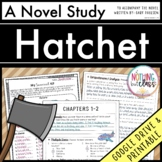 Hatchet Novel Study Unit: comprehension, vocabulary, activities, tests
