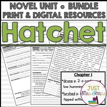 Hatchet Novel Unit