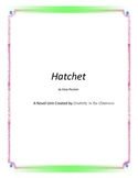 Hatchet Novel Unit Plus Grammar