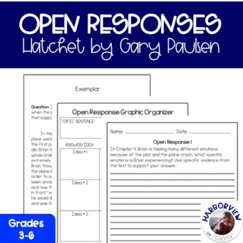 Hatchet Open Response Worksheets