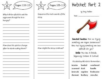 Hatchet Part 2 Trifold - Open Court 5th Grade Unit 1 Lesson 6