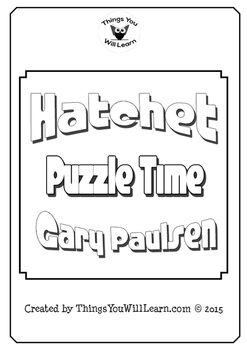 Hatchet Crossword Puzzle Pack (Gary Paulsen)