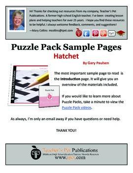 Hatchet Puzzle Pack Sampler