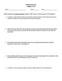 Hatchet Quiz Chapters 8-14