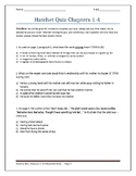 Hatchet Quiz (Chapters 1-4)